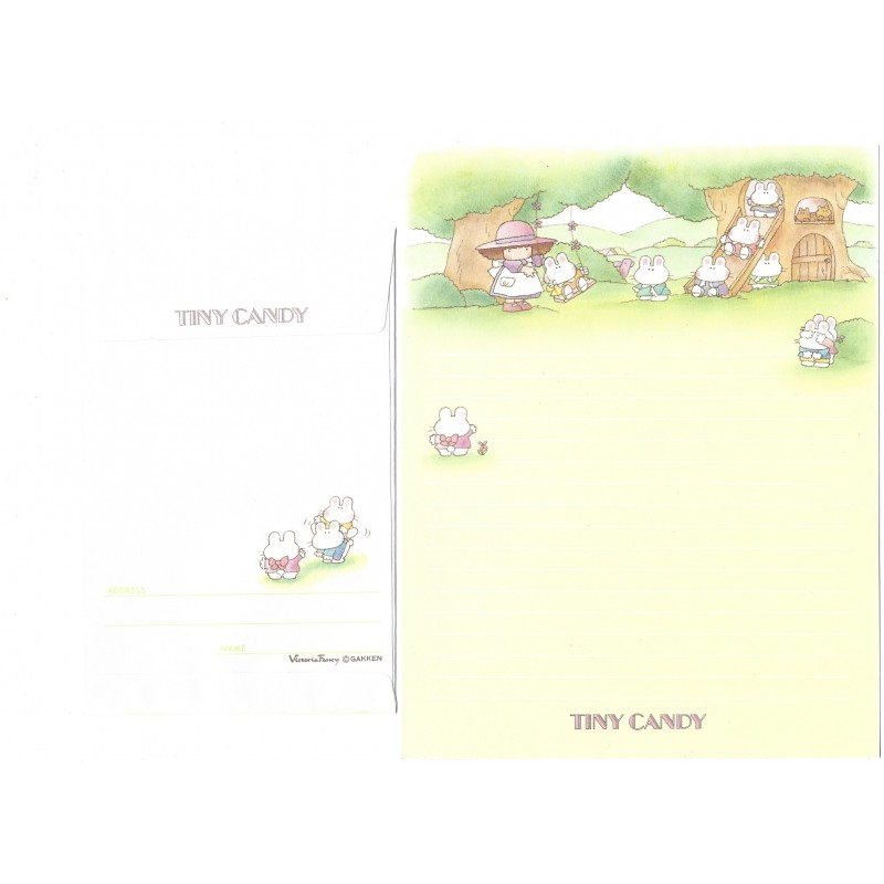 Conjunto de Papel de Carta Tiny Candy Tree House Victoria Fancy Gakken