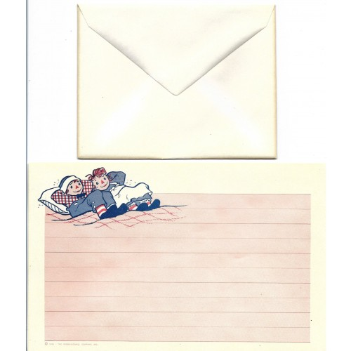 Ano 1961. Conjunto de Papel de Carta Importado Raggedy Ann & Andy CRS3