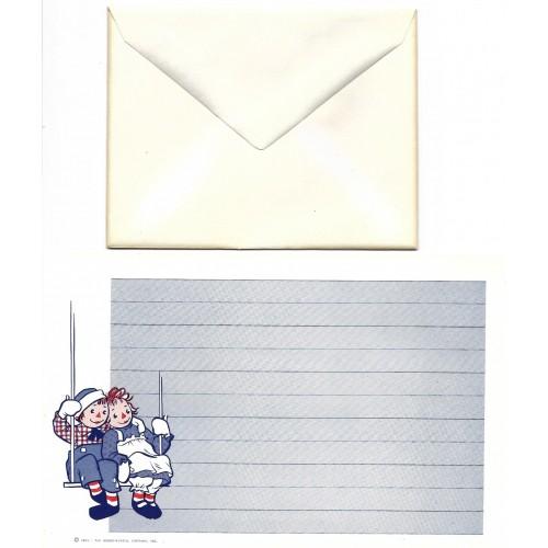 Ano 1961. Conjunto de Papel de Carta Importado Raggedy Ann & Andy CAZ2