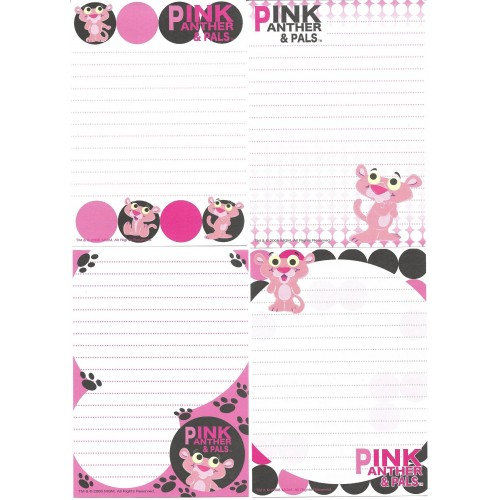 Kit 4 Notas Pink Panther & Pals 2008