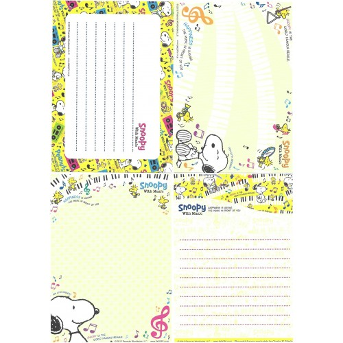 Ano 2012. Kit 4 Notas SNOOPY With Music CAM