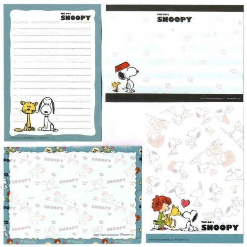 Ano 2013. Kit 4 Notas The 60's SNOOPY and Faron