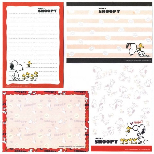 Ano 2013. Kit 4 Notas The 60's SNOOPY and Woodstock CVM