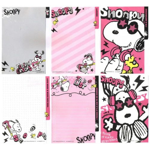 Ano 2011. Kit 6 Notas SNOOPY Superstar