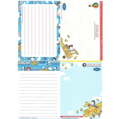 Ano 2011. Kit 4 Notas SNOOPY Flying Ace