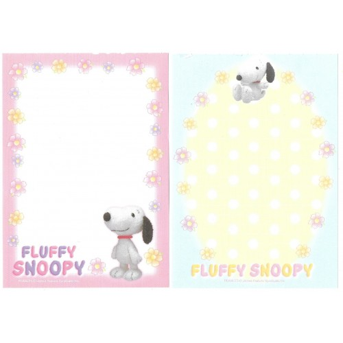 Kit 2 Notas Fluffy SNOOPY Hallmark