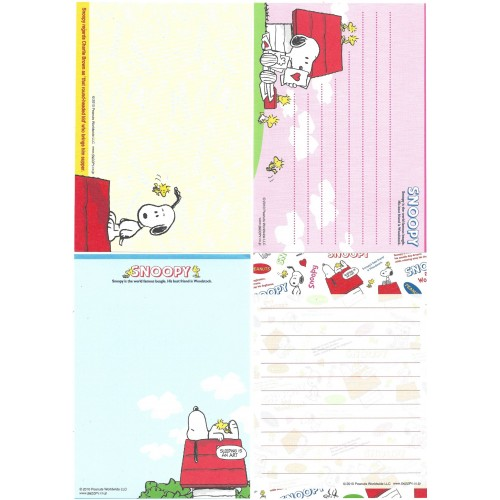 Ano 2010. Kit 4 Notas SNOOPY Sleeping In An Art