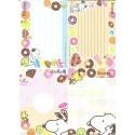 Kit 4 Notas Snoopy Donuts