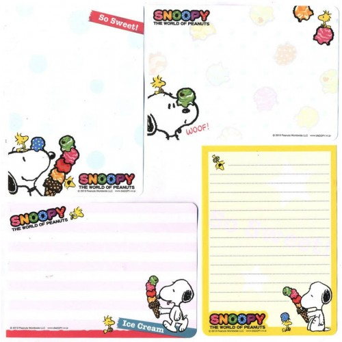 Ano 2013. Kit 4 Notas SNOOPY So Sweet