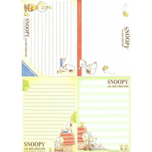 Ano 2014. Kit 4 Notas SNOOPY and His Friends