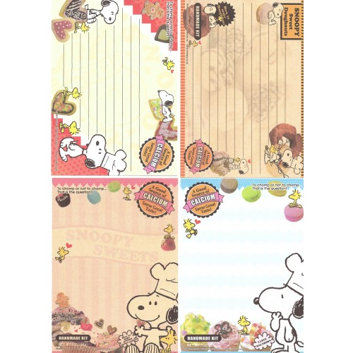 Kit 4 Notas SNOOPY Sweets
