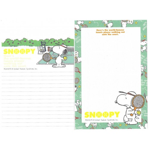 Kit 2 Notas SNOOPY Tennis Hallmark