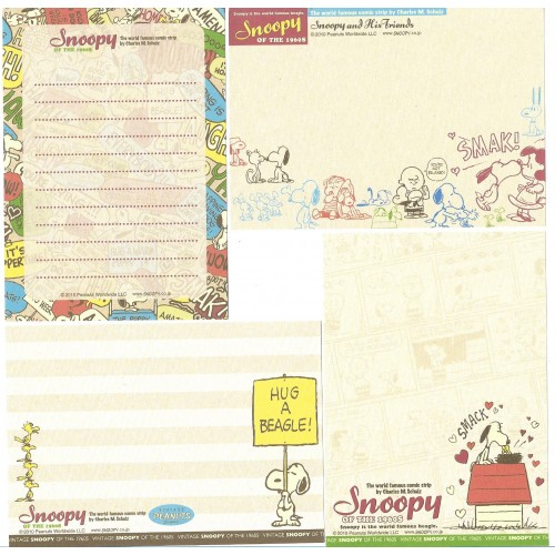 Ano 2010. Kit 4 Notas Vintage Peanuts SNOOPY