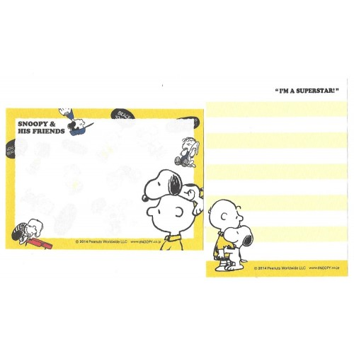 Ano 2014. Kit 2 MEMOS SNOOPY & His Friends CAM