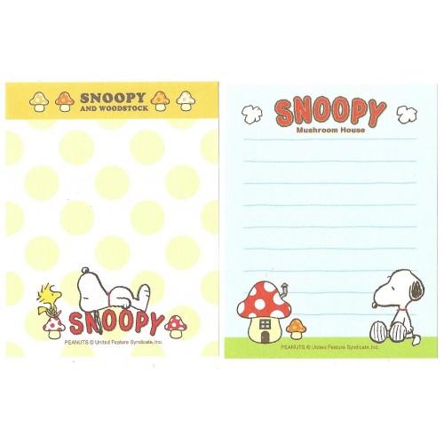 Ano 2015. Kit 2 MEMOS Snoopy Mushroom House