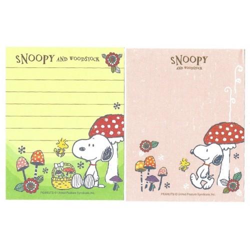 Kit 2 MEMOS Snoopy And Woodstock Mushroom