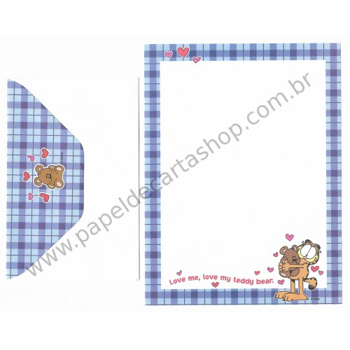 Conjunto de Papel de Carta Garfield Love My Teddy Bear - Paws