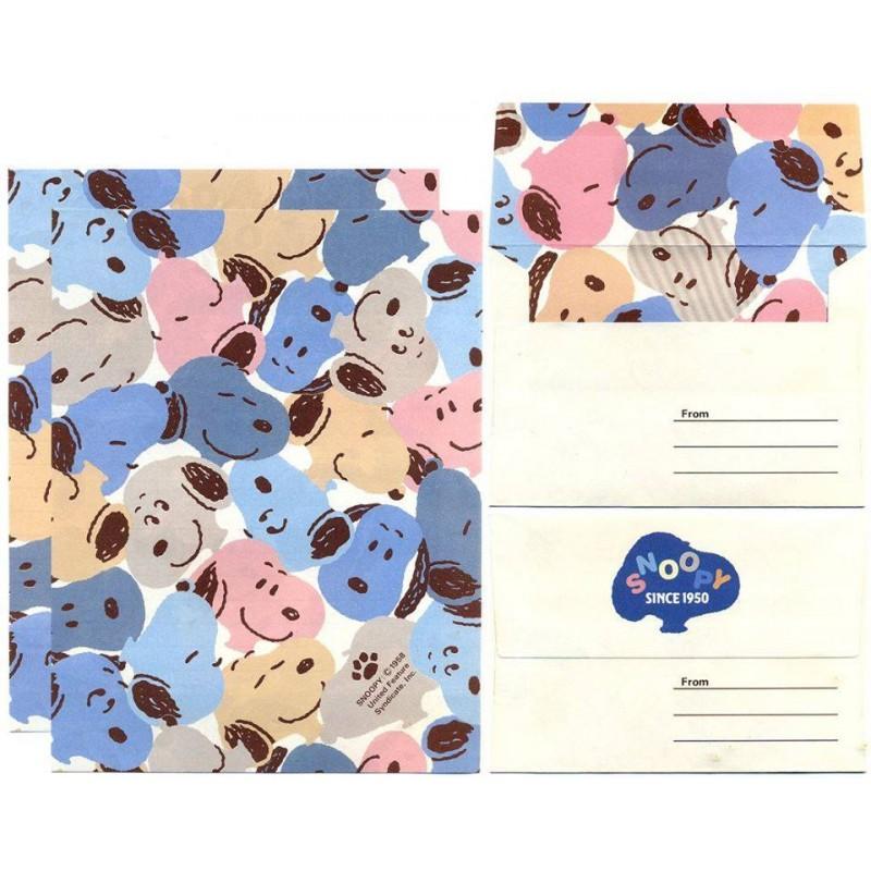 Conjunto de Papel de Carta SNOOPY CAZ Vintage Hallmark Japan