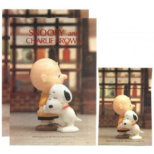 Conjunto de Papel de Carta Snoopy & Charlie Brown Vintage Hallmark