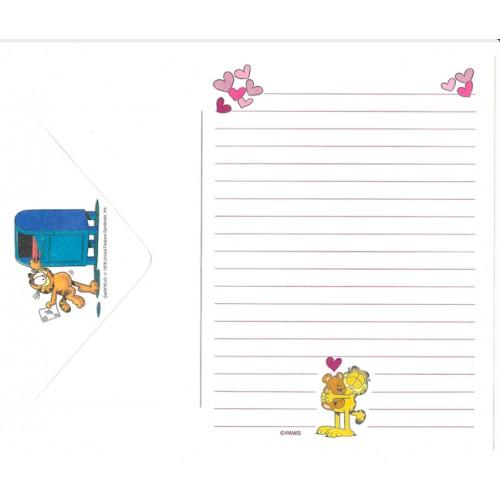 Conjunto de Papel de Carta Avulso Garfield Bear - Paws