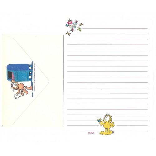 Conjunto de Papel de Carta Avulso Garfield Butterfly - Paws