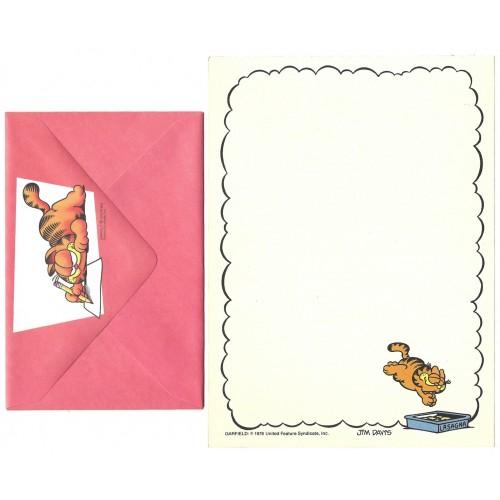 Conjunto de Papel de Carta Garfield Lasagna - Paws