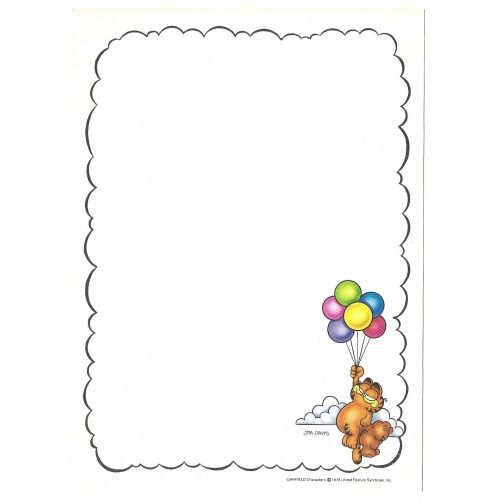 Papel de Carta Avulso Garfield Stick With Me - Paws