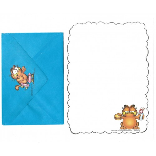 Conjunto de Papel de Carta Garfield Hamburger - Paws