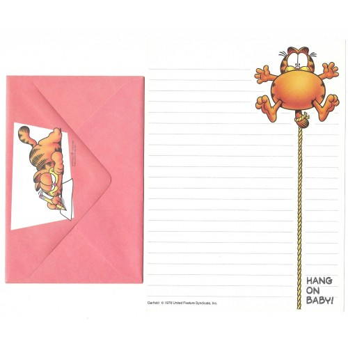Conjunto de Papel de Carta Garfield Hang On Baby - Paws