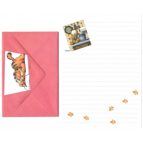 Conjunto de Papel de Carta Garfield Cookies - Paws