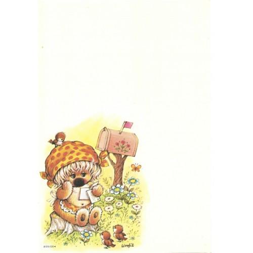 Papel de Carta Antigo Coleção Woofit Fofinhos 205/004