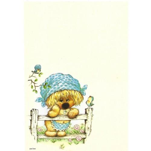 Papel de Carta Antigo Coleção Woofit Fofinhos 205/001