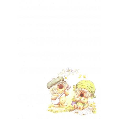 Papel de Carta Antigo Coleção Woofit Fofinhos 3003