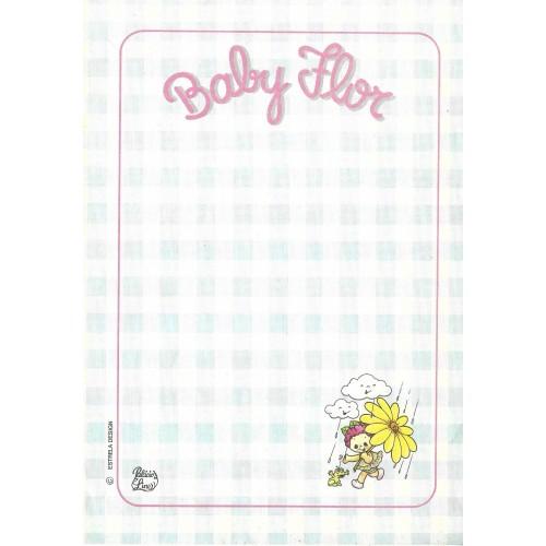 Papel de Carta AVULSO Coleção Palacio's Line Baby Flor (CAZ)