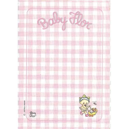 Papel de Carta AVULSO Coleção Palacio's Line Baby Flor (CRS)