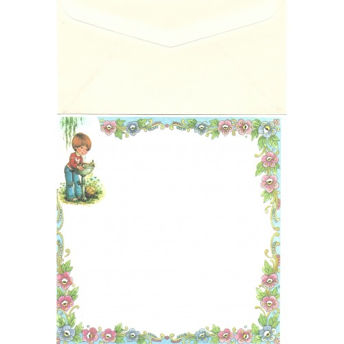Conjunto de Papel de Carta Antigo Importado Mary May CAZ