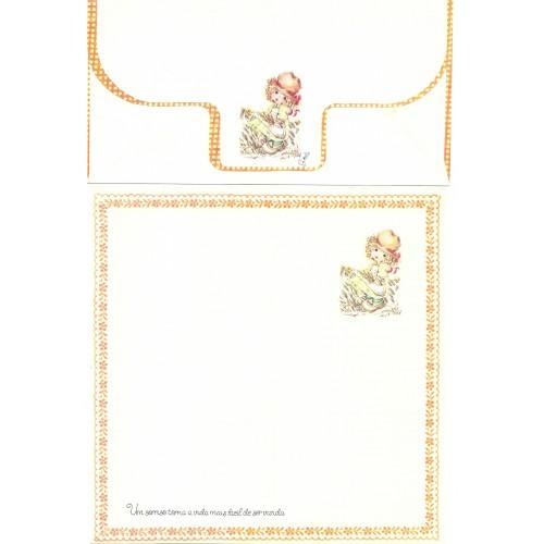 Conjunto de Papel de Carta Coleção Gisele (QOR)