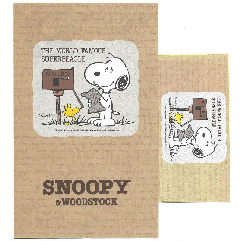 Conjunto de Papel de Carta Snoopy Superbeagle Peanuts Japan