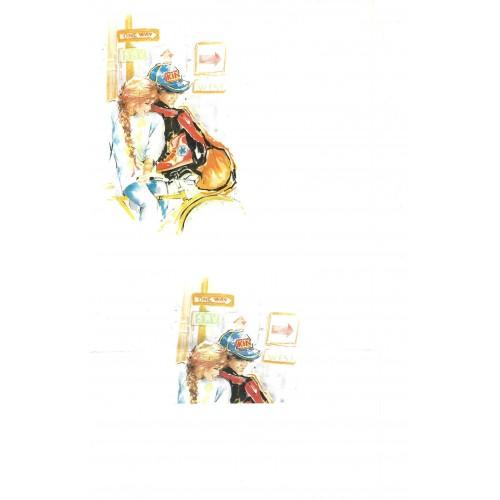 Conjunto de Papel de Carta Antigo IMPORTADO Coleção BROOKLIN 04G