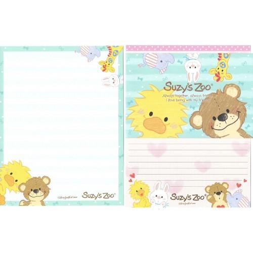 Ano 2014. Conjunto Papel de Carta IMPORTADO Suzy's Zoo 4