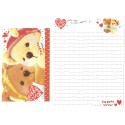Conjunto de Papel de Carta Importado I Love Bear Korea