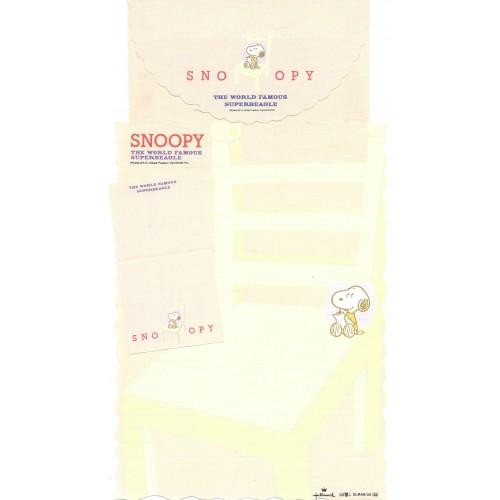Conjunto de Papel de Carta Snoopy CRE Vintage Peanuts Hallmark Denz