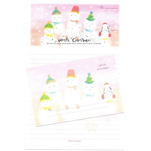Conjunto de Papel de Carta Importado White Christmas Barunson