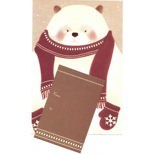 Conjunto de Papel de Carta Importado Snow Bear - i-Neu