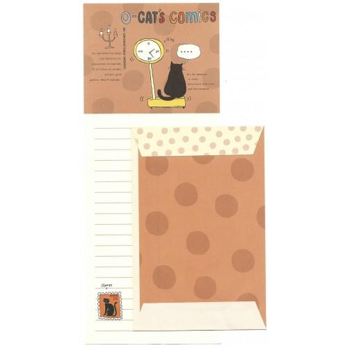 Conjunto de Papel de Carta Importado Cat's Comics