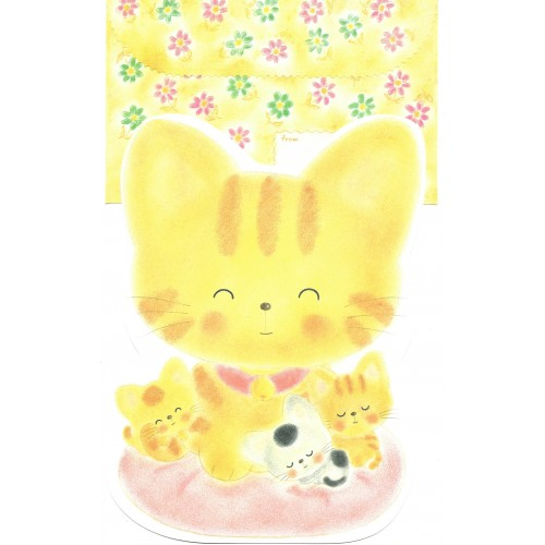 Conjunto de Papel de Carta Vintage Cats Yellow Jey Jey Co