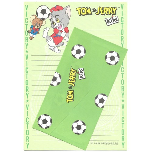 Ano 1993. Conjunto de Papel de Carta Importado Tom & Jerry Kids CVD