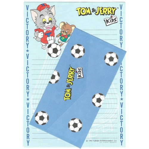 Ano 1993. Conjunto de Papel de Carta Importado Tom & Jerry Kids CAZ