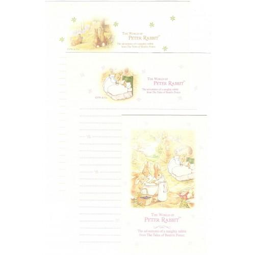 Conjunto de Papel de Carta Importado Peter Rabbit 06 DUPLA