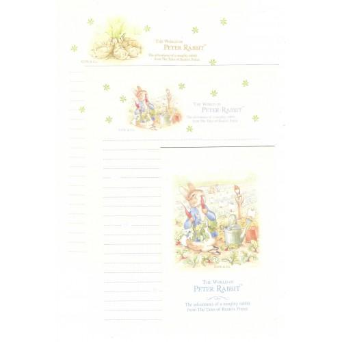 Conjunto de Papel de Carta Importado Peter Rabbit 09 DUPLA